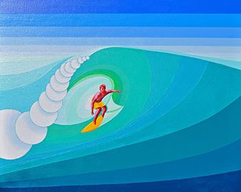 Lone Surfer - 76cm x 61cm
