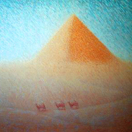 Sold - Pyramid - oils on board - 94cm x 94cm