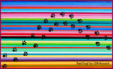 'Bad Dog' acrylic on canvas 75cm x 45cm