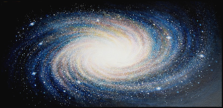 Galaxy - acrylic on canvas - 76cm x 38cm