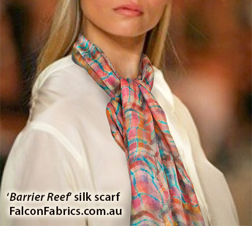 'Barrier Reef' silk scarf