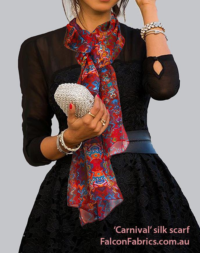 'Carnival' silk scarf