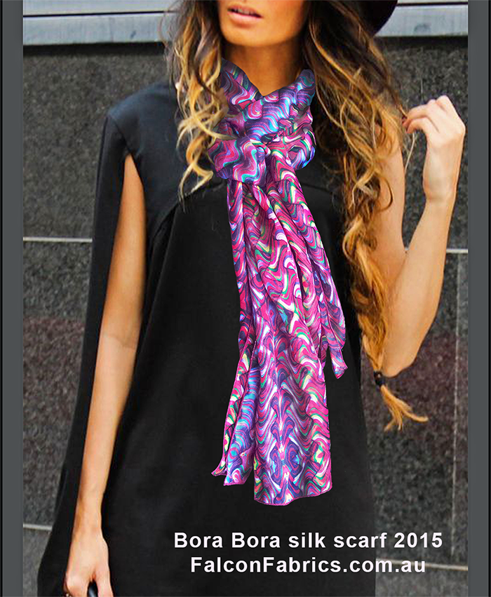 'Bora Bora' silk scarf