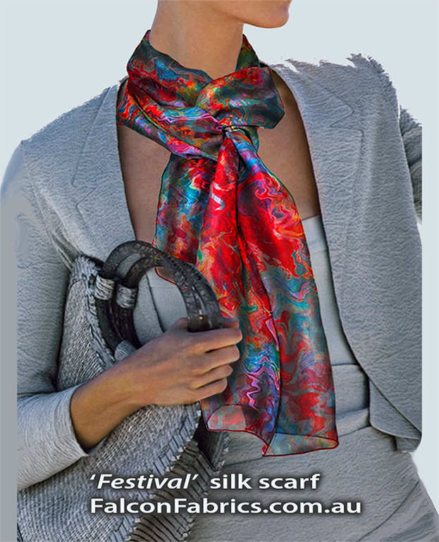 'Festival' silk scarf
