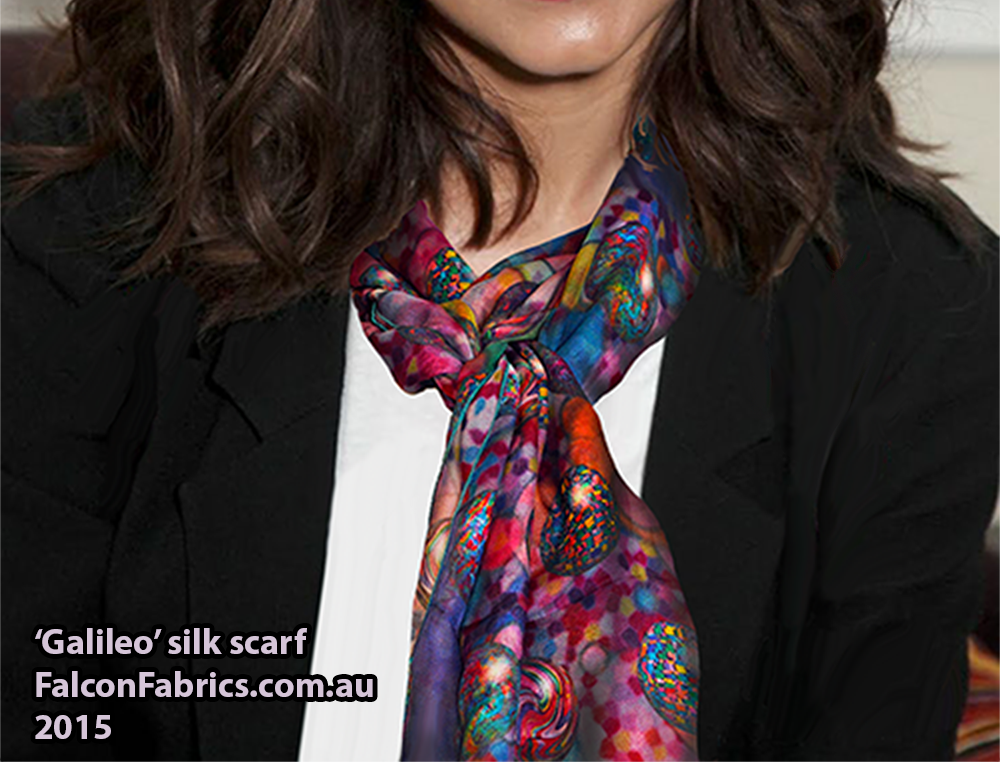 'Galileo' silk scarf