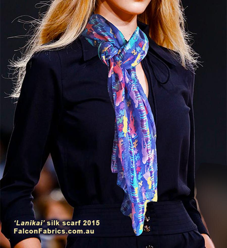 'Lanikai' silk scarf