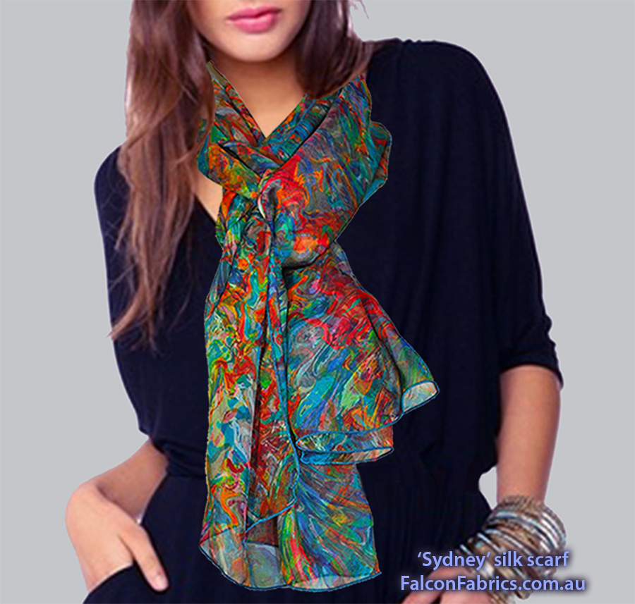 'Sydney silk scarf