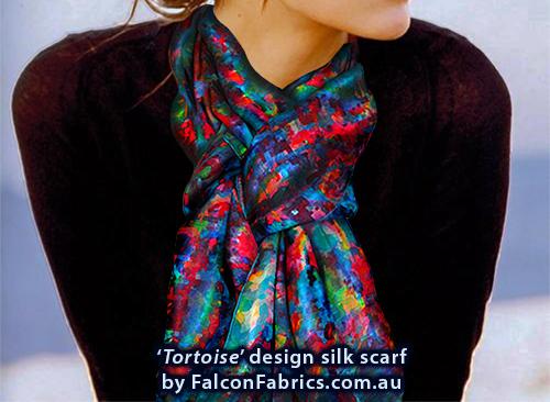 'Tortoise' silk scarf