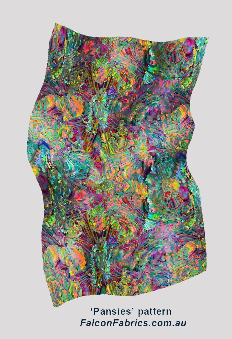 'Pansies' pattern silk scarf 2017