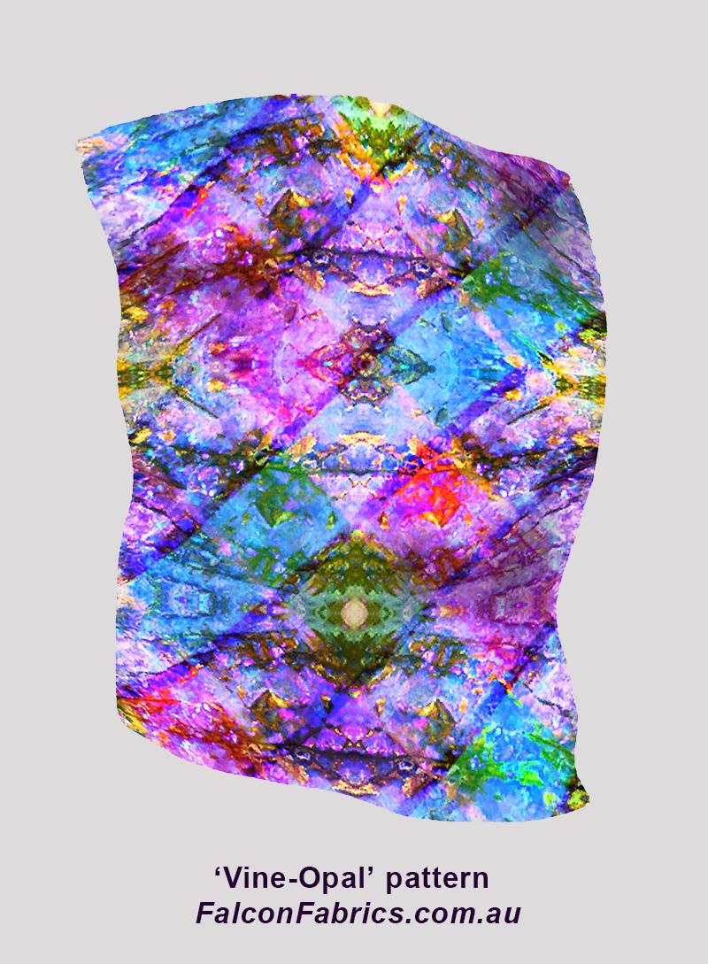 Vine-Opal pattern silk scarf 2017
