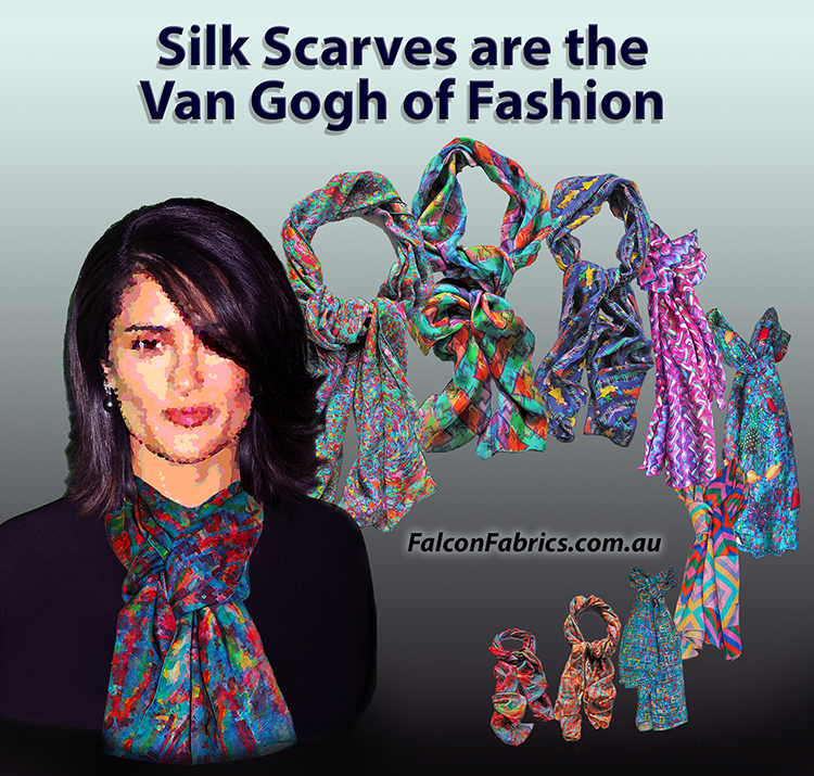Australian designed silk scarves by #cliffhowardartist