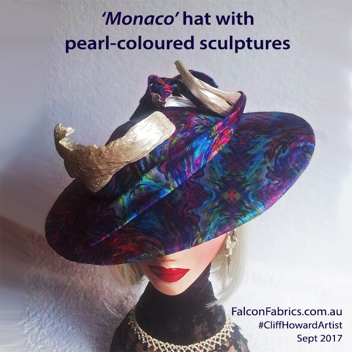 Customised boaters with handcrafted ribbons or sculpture #CliffHowardArtist #hats #millinery