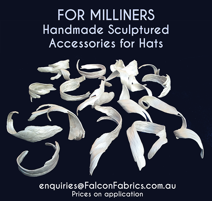 Australian handmade sculpture for millinery accessories #CliffHowardArtist #Millinery