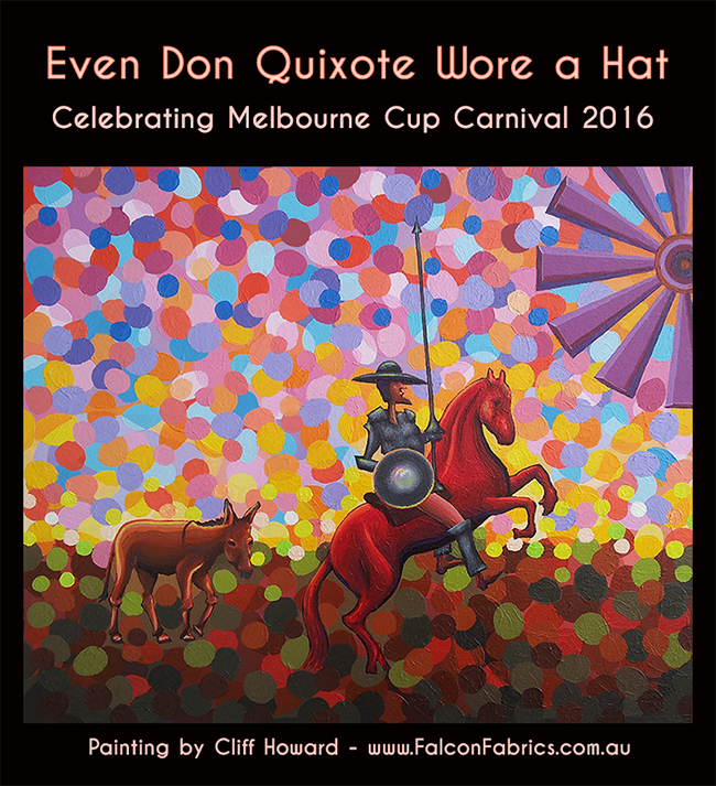 #millinery #CliffHowardArtist +hats +Quixote +#horses paintings