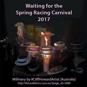 Millinery components and customised boater hats by #CliffHowardArtist Facebook: @artistcliffhoward