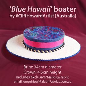 Boaters couture headwear millinery SpringRacingCarnival hats chapeaux cappelli écharpes style FlemingtonVRC headpiece CliffHowardArtist RoyalAscot TheDerby MelbourneCup fashiononthefield LondonHatWeek #Hawaii