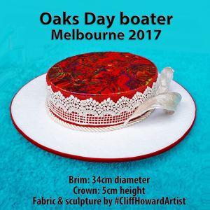 Boaters couture headwear millinery SpringRacingCarnival hats chapeaux cappelli écharpes style FlemingtonVRC headpiece CliffHowardArtist RoyalAscot TheDerby MelbourneCup OaksDay fashiononthefield LondonHatWeek
