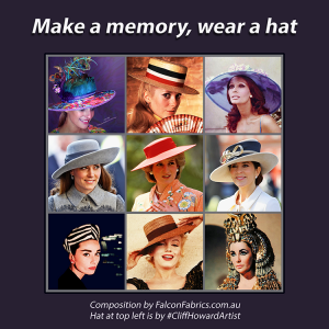Boaters couture headwear millinery SpringRacingCarnival hats chapeaux cappelli écharpes CliffHowardArtist RoyalAscot TheDerby MelbourneCup fashiononthefield LondonHatWeek fashion style melbourneracingclub FlemingtonRacecourse DuchessofCambridge