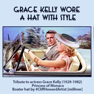 gracekelly Boaters couture headwear millinery SpringRacingCarnival hats chapeaux cappelli écharpes CliffHowardArtist RoyalAscot TheDerby fashiononthefield LondonHatWeek fashion style Racecourse Monaco