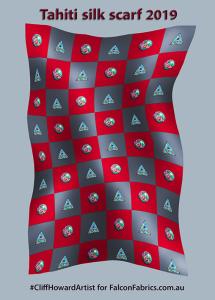 silk silkscarves CliffHowardArtist fashion Australia couture accessories logos design