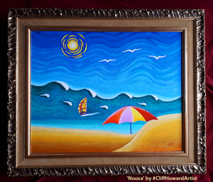 Acrylic pianting on canvas by Cliff Howard. #CliffHowardArtist #beaches #surfing #Australia #waves